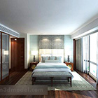 Arredamento completo interno camera da letto moderna