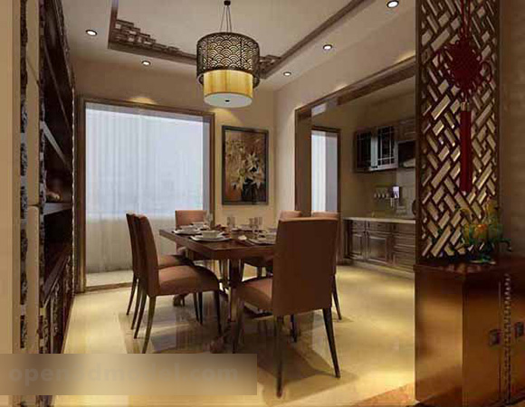 Elegant Chinese Restaurant Interior 3d Model Max Open3dmodel 319398