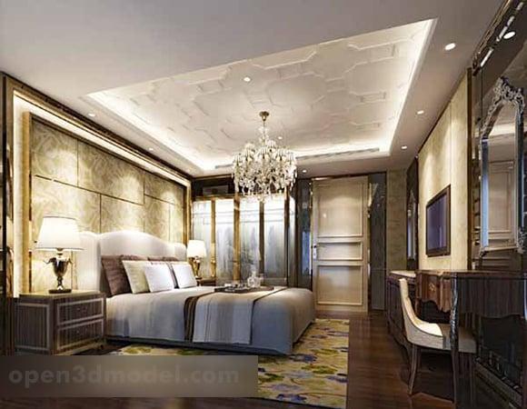 European Simple Bedroom Interior