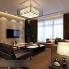 Lampu loket besar ruang tamu moden