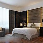 Modern Minimalist Hotel Bedroom