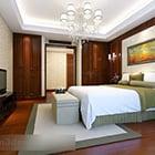 Interior de dormitorio moderno de Asia