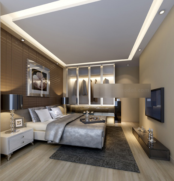 Home Master Bedroom Interior 3d Model Max Vray Open3dmodel 319612