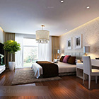Modern Bedroom Interior With Potted Plant
