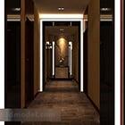 Wnętrze korytarza hotelowego V5