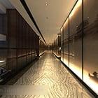 Wnętrze korytarza hotelowego V6