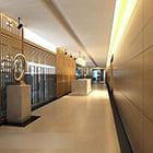 Wnętrze korytarza windy V5