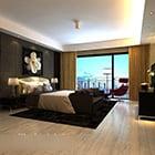 Modern minimalistisch slaapkamerinterieur V3