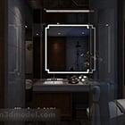 暗いスタイルのトイレのインテリア