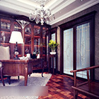 European Study Room Interior