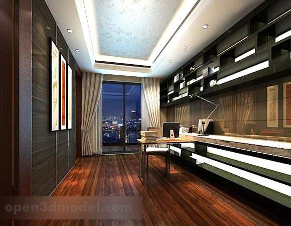 Study Room Ceiling Design Interior