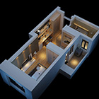 One Bedroom Home Plane Interior