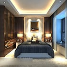 Bedroom Background Wall Decoration Interior