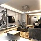 Modern Living Room Tv Wall Interior V1