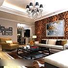 Modern Living Room Chandeliers Interior V1