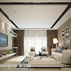 Modern Living Room Curtains Interior V2