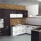 المطبخ U الشكل الداخلية V1