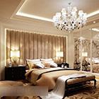 Sypialnia w stylu europejskim z wnętrzem Chandilier