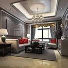 European Living Room Ceiling Decoration Interior