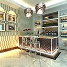 ホームバーのワイン棚のインテリア