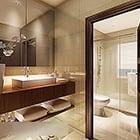 Modern hotel toilet interieur