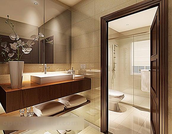 Modern Hotel Toilet Interior 3d Model Max Vray Open3dmodel 322936