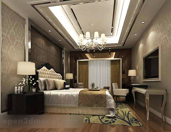 Neo Classic Bedroom Interior V1 3d Model Max Vray Open3dmodel 322974