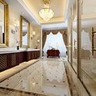 豪華な装飾ヨーロッパのバスルームのインテリア