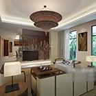 Villa Living Room Chandeliers Design Interior