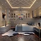 شقة فاخرة غرفة نوم رئيسية الداخلية