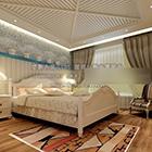 ماجستير غرفة نوم بسيطة الداخلية