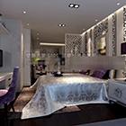 التصميم النظيف غرفة نوم رئيسية الداخلية