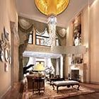 Luxury Duplex Living Room Classic Interior