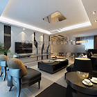 Modern minimalist oturma odası iç V22