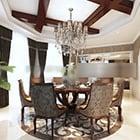 Restaurant Round Table Vip Room Interior