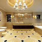 Round Ceiling Decor Bathroom Interior