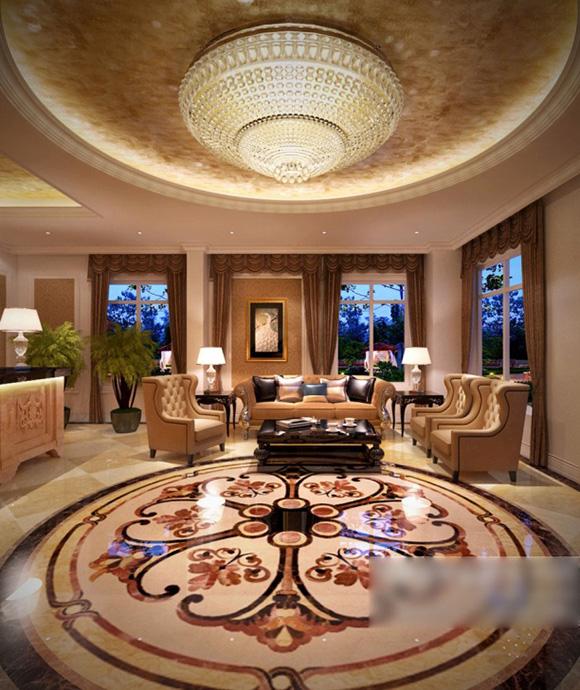 Living Room Ceiling Decoration Interior V2