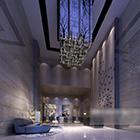 Villa Living Room Chandeliers Design Interior V1