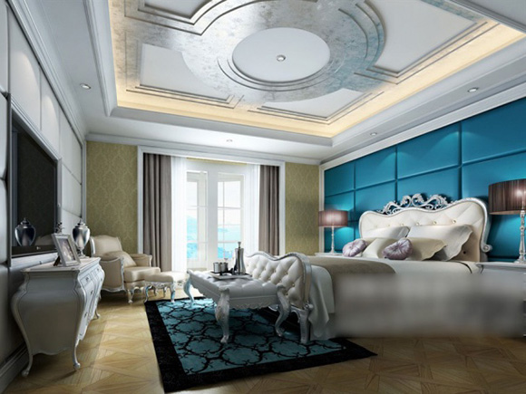 European Classic Ceiling Bedroom Interior 3d Model Max Vray Open3dmodel 323525