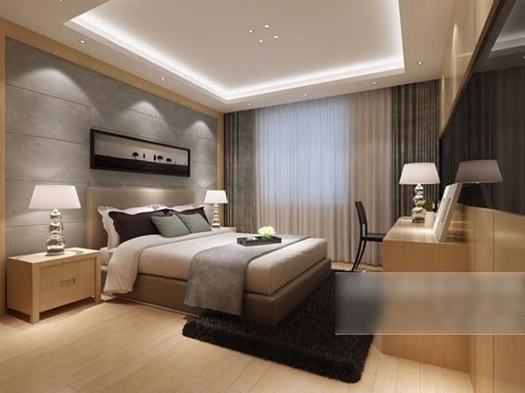 Simple Home Modern Bedroom Interior 3d Model Max Vray Open3dmodel 323529