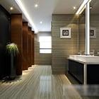 Wnętrze toalety publicznej Clean Design