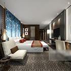 غرفة نوم رئيسية كاملة داخل الفندق