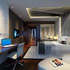 西部の寝室の天井デザインインテリア
