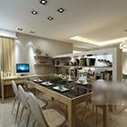 Koti moderni ruokasali-sisustus
