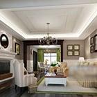 European Living Room Fireplace Interior V4