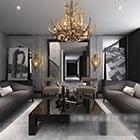 Modern European Living Room Painting Interior