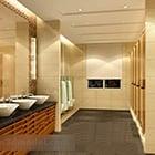 Public Toilet Ceiling Decor Interior