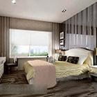 Modern yatak odası iç V9