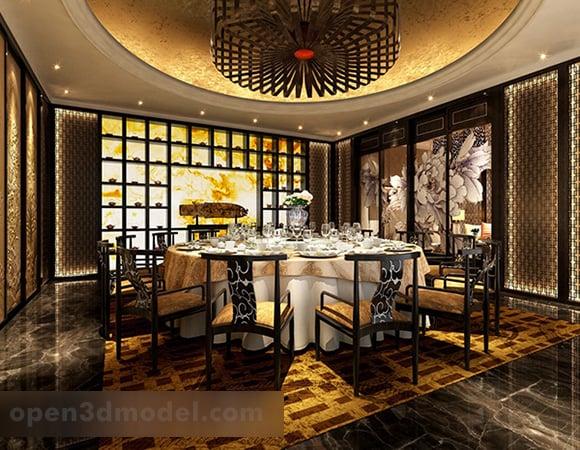 Chinese Vip Dinning Room Interior