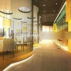 Restaurant Bar Counter Interieur V1